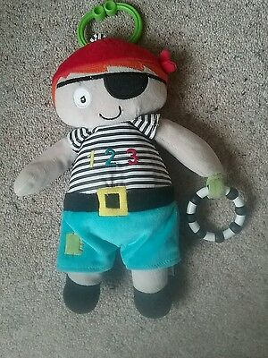 M&S Marks and Spencer Pirate Sensory Teething Baby Soft Toy