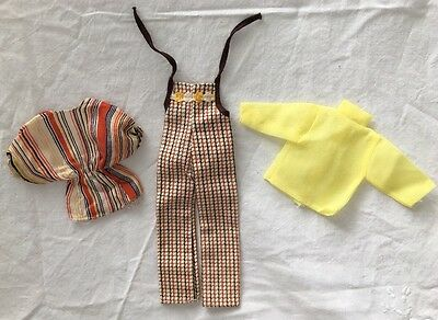 Vintage Knock Off Barbie Clone Outfit BODYSUIT Overalls Yellow Blouse