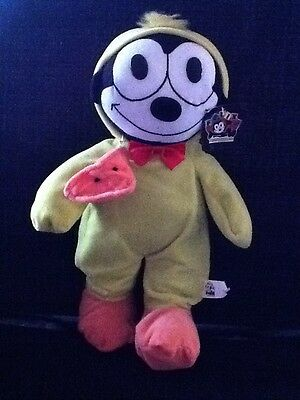 "14"" Felix The Cat In Duck Costume Plush Stuffed Animal Toy W/Tags"