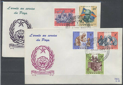 Congo Belge Fdc 53-54 - Armee Au Service Du Pays - 1966 Luxe