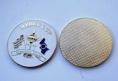 FLAT 1 inch 1999 RYDER CUP Golf ball marker COUNTRY CLUB