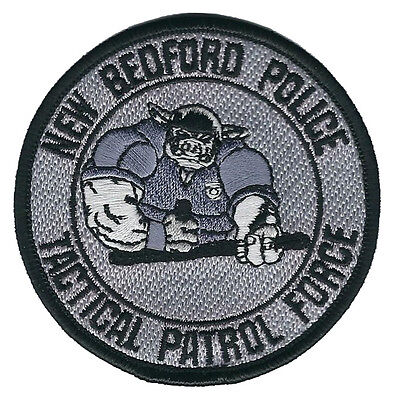 """New Bedford Police Tactical Patrol Force Shoulder Patch - 3 1/8"""" diameter - NEW"""