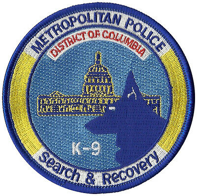 Metropolitan Police Search And Recovery K9 Washington D.C. Patch - 3 1/2""
