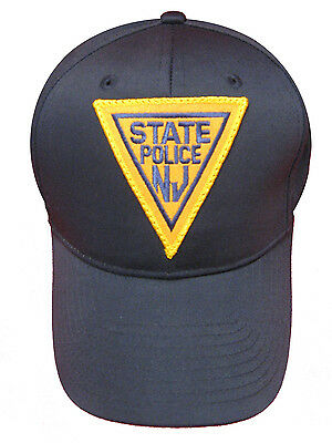 New Jersey State Police Patch Snap Back Ball Cap / Hat - NAVY - OSFA - New