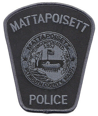 """Mattapoisett Police Massachusetts Subdued Shoulder Patch  4 3/4"""" tall by 4"""" wide"""
