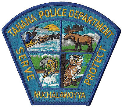 """Tanana Police Department Alaska Shoulder Patch - 4 3/8"""" tall by 3 7/8"""" wide"""