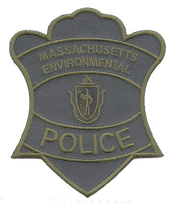 """Massachusetts Environmental Police Subdued Shoulder Patch 4 1/2"""" T x 3 3/4"""" W"""