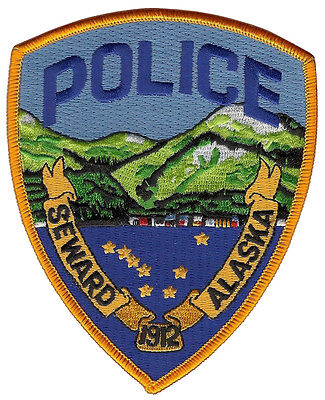 Seward Police Alaska Shoulder Patch - 4 3/4 inches tall by 3 7/8 inches wide