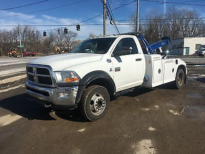 2011 Dodge 5500 Cummins With Vulcan Twin Line Tunnel Body Wrecker Low Miles!!