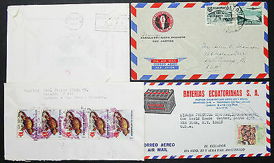 Ecuador Airmail Set of 4 Covers Letters Signed HCJS Lupo MeF MiF Briefe (H-8399