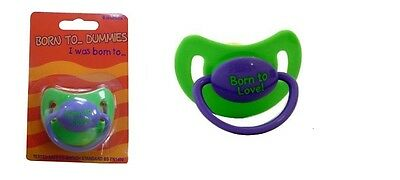 Baby Dummy Pacifier teat / nipple soother Very Colorful free BPA Born To Love