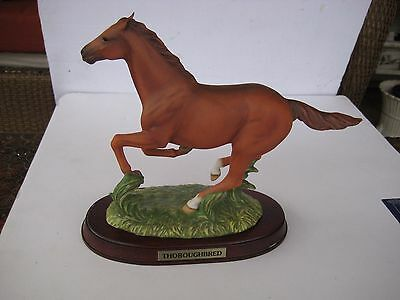 Thoroughbred Porcelain Statue Horses of the World by Studio Design 1993