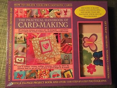 Card Making handbook set BNIB, ideal gift/ present