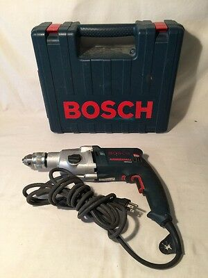 "Bosch 1/2"" Chuck Hammer Drill 1199VSR 8.5 Amp Two Speeds Made in Switzerland"