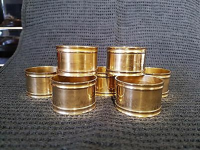 Antique silver plate on to brass napkin rings