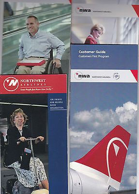 Northwest Air Lines Brochures  (4)  Collectables
