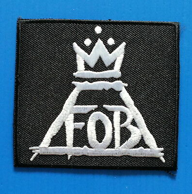 FALL OUT BOY PUNK ROCK BAND Embrodered Iron Or Sewn On Patch Free Ship