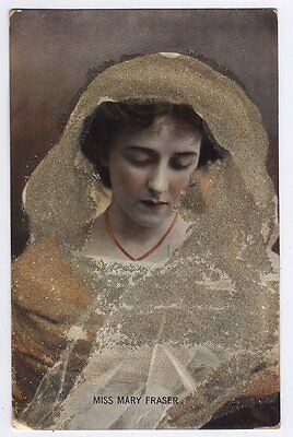 Mary Fraser - Actress Raphael Tuck Theatrical Postcard 4416 - With Celluloid