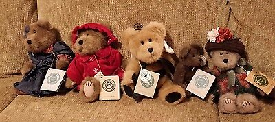 5 Boyds Bear Collectibles Humboldt+Clover L Buzzoff+CC Cocoabear+Emmy Lou+Fanny