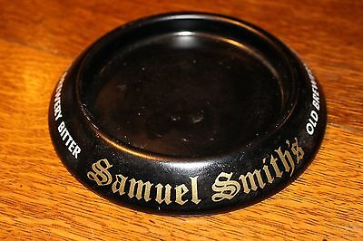 Vintage Beer Advertising Ashtray Samuel Smith Old Brewery Bitter Metal Tip Tray