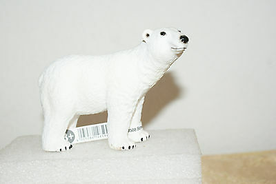 White Polar Bear Adult in Standing Position by Schleich with Tag  2011