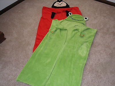 Lot Of Childrens Frog And Ladybug Hooded Bath Towels Hood-A-Loos