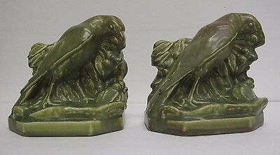 "Pair of Great Example Rookwood Art Pottery ""Rook"" Bookends Brook Artist Signed"