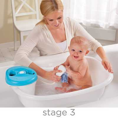 Baby Sling in Sink Toddler Bath Tub Center with Removable Shower Bathtub Seat