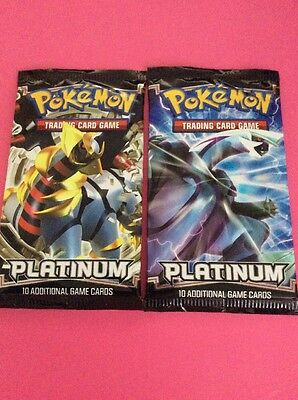 Pokemon 2x Factory Sealed Platinum Booster Packs Pokemon Cards