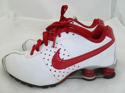 eeacac4a875 Nike Used Shox Ii Rare 6 White red Hearts Sneakers running walking Shoes