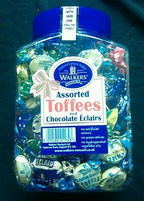 WALKERS NONSUCH Assorted Toffees and Chocolate Eclairs 1.25 kg JAR.