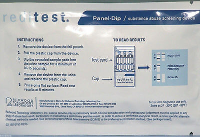 12 PANEL One Step Dip Substance Abuse Screen Home DRUG TEST for 12 Drugs REDI