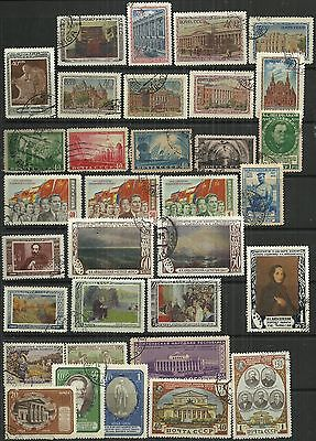 Russia 1950 - 51 selection 33 stamps as scan