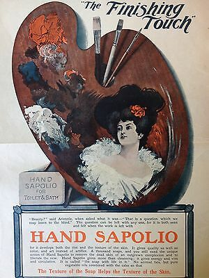 ANTIQUE ORIGINAL PRINT AD 1906 (up)~HAND SOPOLIO TOILET AND BATH SOAP