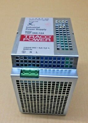 1 Traco Tsp 360-124 Tsp360-124 Industrial Power Supply 15A 24-28V Adjustable