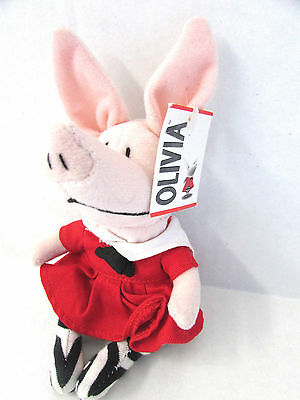 Olivia the Pig Madame Alexander Plush Doll Toy Red Dress NWT - NO BOX (JC)