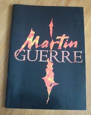 1998 Martin Guerre programme with ticket for 9th July Nottingham