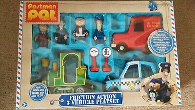 Postman Pat 3 friction vehicles and figures set-missing Jess:-(