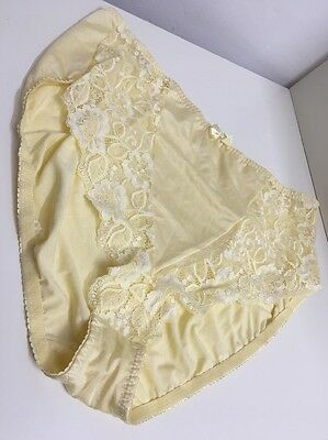 CG19 VINTAGE Silky Nylon Big Panties Lace Sissy Knickers Size 30 UK XXXXL 5XL