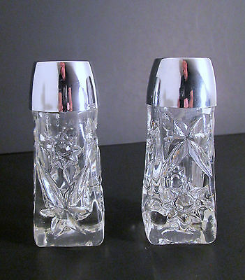 EAPC Early American Prescut Salt and Pepper Shakers Anchor Hocking Star of David