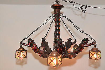Antique French Breton Chandelier Nice Five Light Model a Touch of France