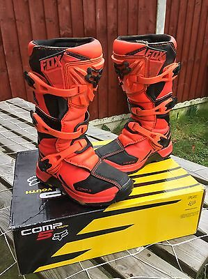 Fox Racing Kids/youth Mx Boots Size 3