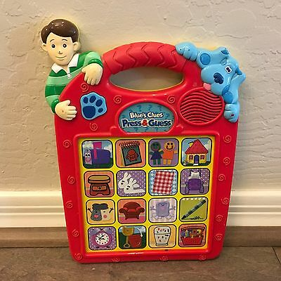 Blues Clues Press And Guess Electronic Talking Toy Learning Game Steve