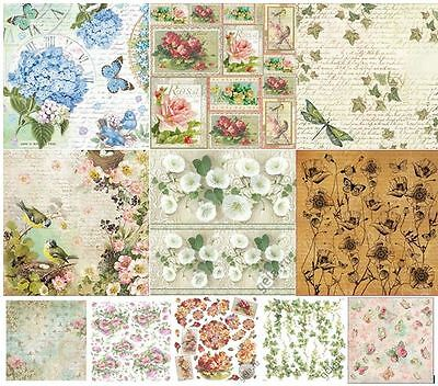 Rice paper  50x50cm. FLOWERS Decoupage. scrapbooking. crafts. STAMPERIA