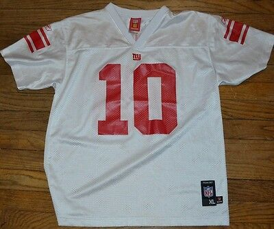 New York Giants NFL Youth #10 Manning Jersey Reebok Boys XL Size 18-20