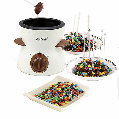Chocolate Fondue Warmer Electric Melting Pot Chocolatier Quality Cheese Melter