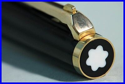 1976 MONTBLANC Hebel Kugelscheiber #380 SCHWARZ & GOLD / BALL POINT PEN