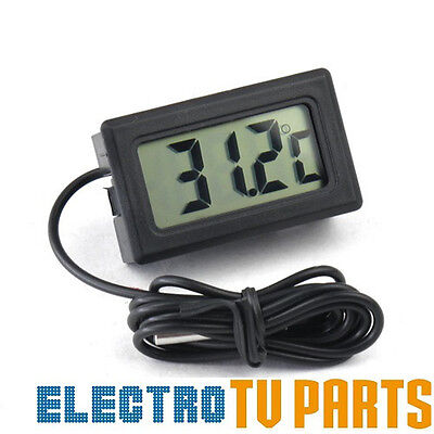 Black MINI DIGITAL LCD THERMOMETER FISH TANK AQUARIUM WATER TEMPERATURE CONTROL