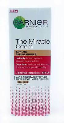 Garnier Miracle Cream Anti-Age Beautifier For Dry Skin + Spf 20 - 50Ml