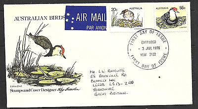 1978 Australia Birds Air Mail FDCover To UK 3 July